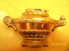 "Vintage Chrome ""OCCUPIED JAPAN"" Fluid Cigarette Table Lighter - Aladdins Lamp"