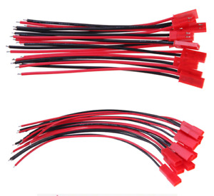 10Pairs JST RCY Connectors Cable 20AWG LiPo Li-Ion Battery 10cm RC Cars Drone