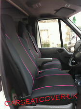 Mercedes Sprinter (06-13) HEAVY Duty PINK Trim Van SEAT Covers - Single + Double