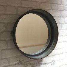 Vintage Industrial Style Metal Wall Mirror Round Metal Frame Retro