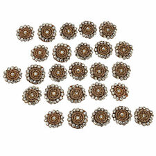 Decorative Crafting Brown Beaded Applique Pearl Stones Pattern Apparel Patch