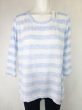 RICH & ROYAL Shirt Gr 42 / XL Blau Weiß Longsleeve Streifen Maritim NP 69,- NEU