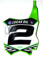 Jeremy McGrath # 2  Signed Front Number plate,ryan dungey,chad reed,ken roczen