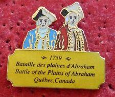 RARE PIN'S BATAILLE DES PLAINES D'ABRAHAM QUEBEC CANADA EGF