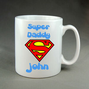PERSONALISED SUPERMAN MUG FATHERS DAY MOTHERS DAY BIRTHDAY VALENTINES GIFT