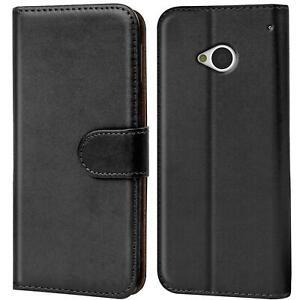 Schutz Hülle Für HTC One M7 Handy Klapp Schutz Tasche Book Slim Flip Case Cover