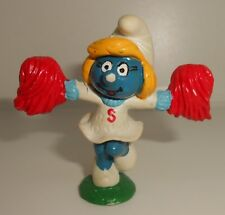 Peyo Vintage Smurf Cheerleader Smurfette 20149 1981 Painted S on Dress