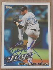 Roy Halladay 2010 Topps #200 Signed Card PSA DNA Blue Jays
