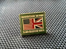 A RARE BARBOUR TEAM /  STEVE MCQUEEN 1964  MOTORCYCLE JACKET PIN BADGE