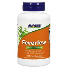 Now Foods Feverfew - 100 Veg Capsules FRESH MADE IN USA