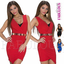 Regular Size Solid Asymmetrical Hem Clubwear Dresses for Women