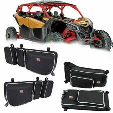 4pcs Side Door Bags w/ Removable Knee Pad For Can Am Maverick X3 Max R 2017-2019