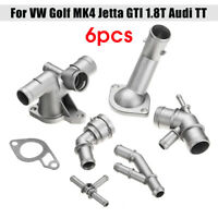 6 Pcs Cast Aluminum Coolant Flange Upgrade Kit For Audi TT VW Golf MK4 GTI 1.8T