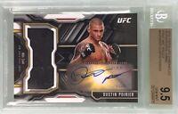 Dustin Poirier 2015 Topps UFC Chronicles Autograph Jumbo Mat Relic BGS 9.5 Gem