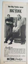 Lot 12 Vintage Mens Dickies Blue Bell Lee  Farah Block Billy the Kid Print Ads