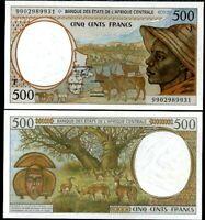 CENTRAL AFRICAN STATES REPUBLIC CAS 500 FRANCS 1999 P 301 Ff UNC