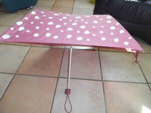 leichter Mini-Knirps-Regenschirm, altrose getupft, gepflegt