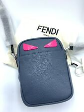 New Fendi BLUE AND PINK BAG BUGS CROSSBODY BAG Authentic $1289