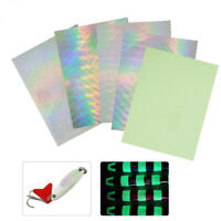 5Pcs Fishing Lure Scale Tape Holographic Adhesive Tackle Craft Fly Tying Sticker