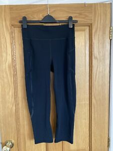 NEW NO TAGS BLACK SWEATY BETTY  ZERO GRAVITY CROPPED LEGGINGS SIZE SMALL