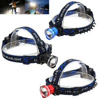 10000LM XM-L T6 LED Headlamp Zoomable Head Lamp Torch Flashlight AA Battery Lamp