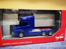 Herpa LKW Scania Hauber Topl/Aerop SZM 3-achs blau 151726