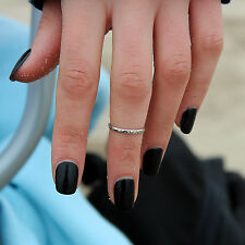 sterling silver Plain simple design Knuckle ring adjustable knuckle ring (T-47)