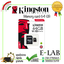 MICRO SD KINGSTON ORIGINALE 64 GB CLASSE 10 80 MB/S SCHEDA MEMORIA MEMORY CARD