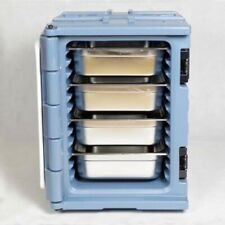 Insulated Food Carrier Outdoor Food Delivery Cabinet With Four Pan 90l Gray