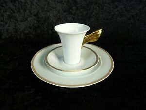 Rosenthal Ikarus Versace Médaillon Méandre d/'Or Kaffeetasse 2tlg neuwertig OVP
