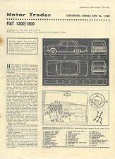 Fiat 1300 & 1500 Motor Trader Service Data No. 1/CSD 1963