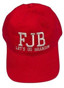 FJB Let's Go Brandon Anti Biden Embroidered Adjustable Trump 2024 MAGA Cap Hat