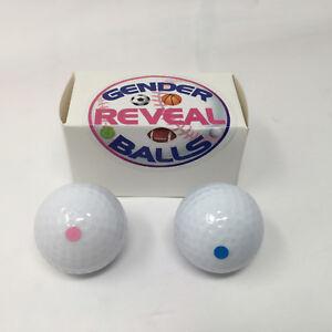 Gender Reveal Golf Balls - 2 Pink and 2 Blue