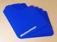 [SR] 04-16 Mazdaspeed 3 & Mazda 3 Mud Guard Flaps STARTER Set BLUE w/ Vinyl Logo