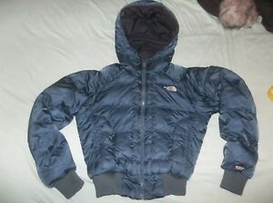 NICE The North Face Gotham Goose Down Parka TNF Coat Soft Bomber Jacket Blue XS
