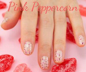 m9L3GoColorStreet PINK PEPPERCORN Nail Strips Glitter NEW **+TWOSIES**