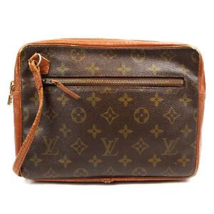 LOUIS VUITTON Sac Sport Clutch Bag Monogram Brown