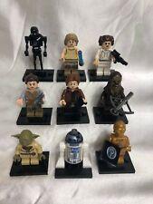 Star Wars Skywalker Solo Chewbacca Leia Yoda R2D2 Rey K2SO Lego Cmpat Minifigure