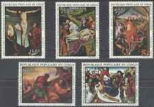 Timbres Religion Paques Arts Tableaux Congo PA112/6 * lot 7500