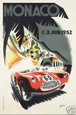 Monaco Grand Prix 1952 auto car  race rally art poster print SKU2066