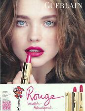 Advertising Publicité GERLAIN Maquillage ROUGE 2011 NATALIA VODIANOVA
