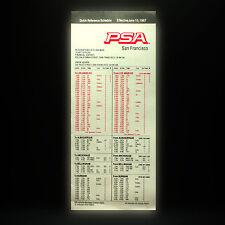 PSA Airlines Della compagnia aerea Timetable (tabella orari) San Fransisco June