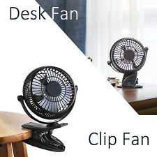 Desktop Fan Personal Fan Clip-on USB Fan USB Powered Portable Quiet Small Fan