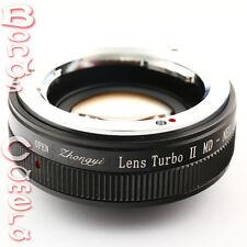 Zhongyi Focal Reducer Booster Lens Turbo II Minolta MD to Sony NEX Adapter A5100
