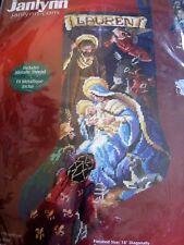 "Christmas Janlynn Holiday Needlepoint Stocking Kit,O'HOLY NIGHT,023-0211,18"",NIP"