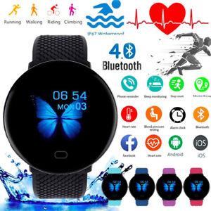 """1.3"""" Smart Watch Women Men Heart Rate Blood Pressure Monitor Sport Tracker"""