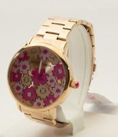 Betsey Johnson Women's Rose Gold Tone Watch BJ00496-77, New