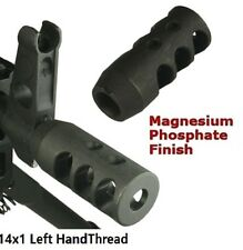 Excellent 14x1 Left Hand Thread Short Competition Muzzle Brake for 7.62x39MM