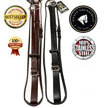 ZILLES QUALITY SOFT LEATHER RUNNING MARTINGALE WITH FREE RUBBER STOP.