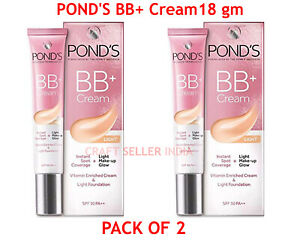 2 X 18 gm POND'S BB+ Cream, Instant Spot Coverage + Natural Glow | FREE SHIPPING
